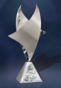 "Stainless Sterling Zenith Award, Sizes: 12""H, 15""H, 16 1/2""H"