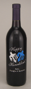 Personalized Etched Wine or Champagne Bottles - Happy Hanukkah -from Bigheadawards.net