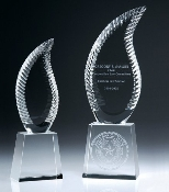 "The Crystal Harmony Award is Available in two sizes. 10 1/4""Height and 12 3/4""Height"