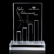 "Crystal Achievement Award - Size 9 5/8""H"