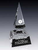 "Crystal Spear Awards, Sizes: 11""H"