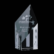 "Crystal Vortex Award is available in two different sizes. 6""Height and 8""Height"