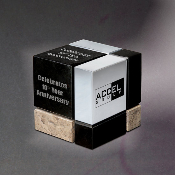 "The Cube Award, Sizes: 2 1/2""H"