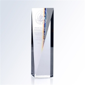"Crystal Goldwell Award is available in three different sizes. 5""Height, 6""Height, and 7""Height."
