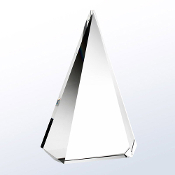"Crystal Majestic Triangle Award, Available In 3 Sizes: 8""H, 9""H, 10""H"