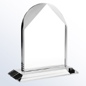 "Distinguished Arch Crystal Award is available in three different sizes. 6""Height, 7 1/2""Height, and 9""Height."