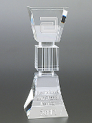 "Crystal Athena Column Award is available in 3 different sizes. 7""Height, 8""Height, and 10""Height"
