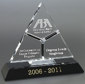 The Crystal Tricera Award is a popular Corporate Crystal Award