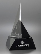 "Crystal Zenith Award is available in 3 different sizes. 7""H, 9""H, and 10 3/4""H"