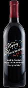 Anniversary Personalized Etched Wine Bottle