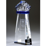 "The Crystal Crown Achievement Award is available in 10""Height"