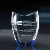 "The Divine Crystal Award is available in 8 1/2""Height"