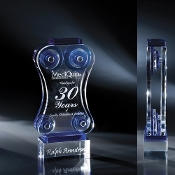 "The Osa Crystal Award is available in 12 1/2""Height"