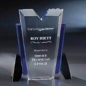 "The Mino Crystal Award is available in 8""Height"