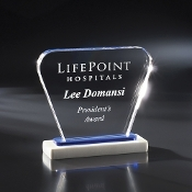 "The Adorn Crystal Award is available in 6 1/4""Height"
