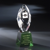 "The Trocadero Crystal Award is available in 8 3/4""Height"