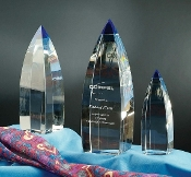 "The Vetri Crystal Award w/ Blue Tip is available in 11""Height"