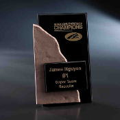 "Fine Format 2 Crystal & Stone Award, Size: 8 3/8""H"