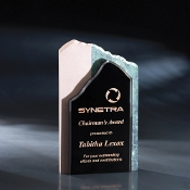 "High Touch Modern Crystal Stone Award, Size: 9 1/2""H"
