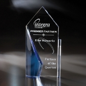 "The Crystal Seaward Award is available in 11""Height"