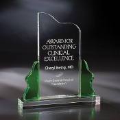 "The Crystal Sea Colony Award is available in 10""Height"