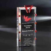 "The Crystal Del Mar Award is available in 9 1/4""Height"