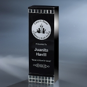 "The Crystal Davina Award is available in 9""Height"