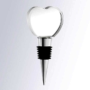 Crystal Heart Wine Stopper, corporate gifts, crystal gifts