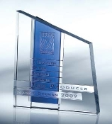 Chroma Crystal Award - Available in 4 different colors: Red, Amber, Blue, Green