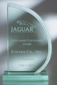 "Jade Glass Sail Award - Waterfall, Sizes: 9""H 10""H 11""H"