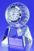 "Crystal Golf Ball Clock - 3 3/4""H X 2 1/4""W X 2 1/4""D - Bigheadawards.net"