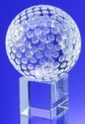 Crystal Golf Ball on Cube - Available in 3 sizes: