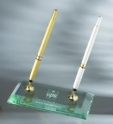 Jade glass Double Pen Set