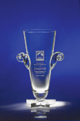 "Crystal Star Cup, Available in 2 sizes: 12 1/2""H, 14 1/2""H"