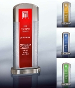Crystal Ambient Award - Available in 4 different colors: Red, Yellow, Blue, Green