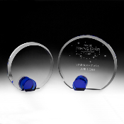 "Crysta Universel Award comes in two different sizes. 5 1/2""Height and 6 1/2""Height"