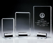 "Crystal Plaque, Available In 3 Sizes: 6 3/8""H 8 1/4""H 10 1/4""H"