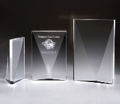 "Crystal Block Award - Available In 3 Sizes: 6""H, 6 3/4""H, 8 3/4""H"