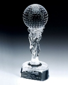 "Crystal Ishtar Golf Trophy - Sizes: 11 1/2""H"