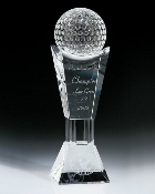 "Crystal Best Golf Trophy, Sizes: 10 3/4""H"