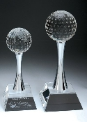 Crystal Slender Golf Trophy - Bigheadawards.net