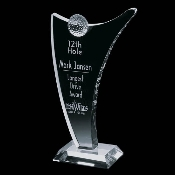 "Crystal Fantasia Golf Award - Sizes: 12""H, 14""H"