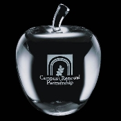 Crystal Big Apple Paperweight