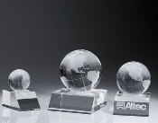 Crystal Desk Top Globe Paperweight