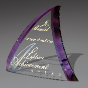 "Jade Crystal Awards, Trident Award, Available In 3 Sizes: 6 3/4""H, 7 1/2""H, 10 1/8""H - Bigheadawards.net"