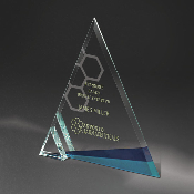 Clear Glass Awards, Azul Ice Tri Award - FS-220-M - Bigheadawards.net