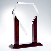 Beautiful jade glass award designs with a lot of thought placed into each bevel and cut of these finely crafted glass awards