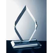 "Glass Diamond Award is Available in 3 sizes. 7 3/4""H, 9 3/4""H and 11 3/4""Height"