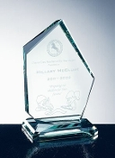 "Jade Crystal Awards, Jade Glass Summit Award, Available In 3 Sizes: 6 1/2""H, 8 1/2""H, 10 1/2""H - Bigheadawards.net"