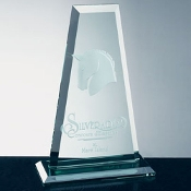 "Jade Crystal Awards, Jade Glass Tower Award, Available In 3 Sizes: 8 1/2""H, 10 1/2""H, 12 1/2""H - Bigheadawards.net"